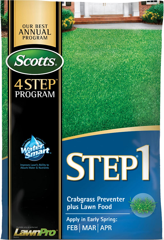 Scotts 33160 LawnPro Step 1 Crabgrass Preventer Plus Lawn Food, 28-0-7, 40.05-Pound