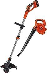 BLACK+DECKER 40V MAX String Trimmer / Edger and Sweeper Combo (LCC140)