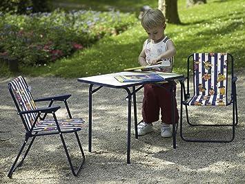 Best 93230020 Set de mobiliario Exterior - Sets de mobiliario Exterior (Azul, Color Blanco, Tela, Acero)