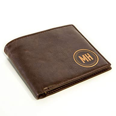 Mens Black Or Brown Leather Wallet Credit Card Holder Personalised Father Dad Uk Wallets Clothes, Shoes & Accessories