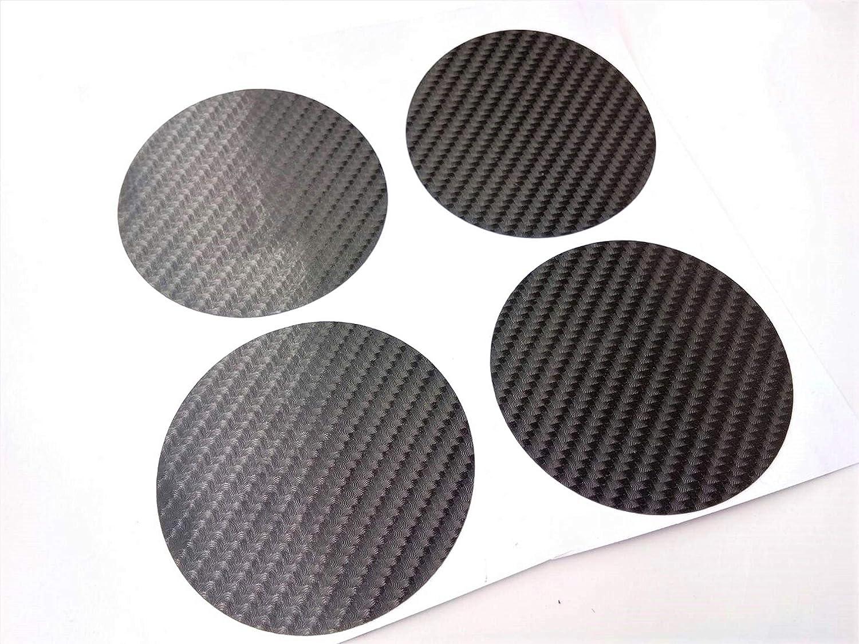 63.5 mm 2 1//2 Plain Kevlar Carbon Fiber Round Circle 2.5 Inches Vinyl Wheel Cap Center Decal Decals 4 Pcs PVC Emblem Sticker Black Badge Trunk Truck Rims All Series Racing Automotive