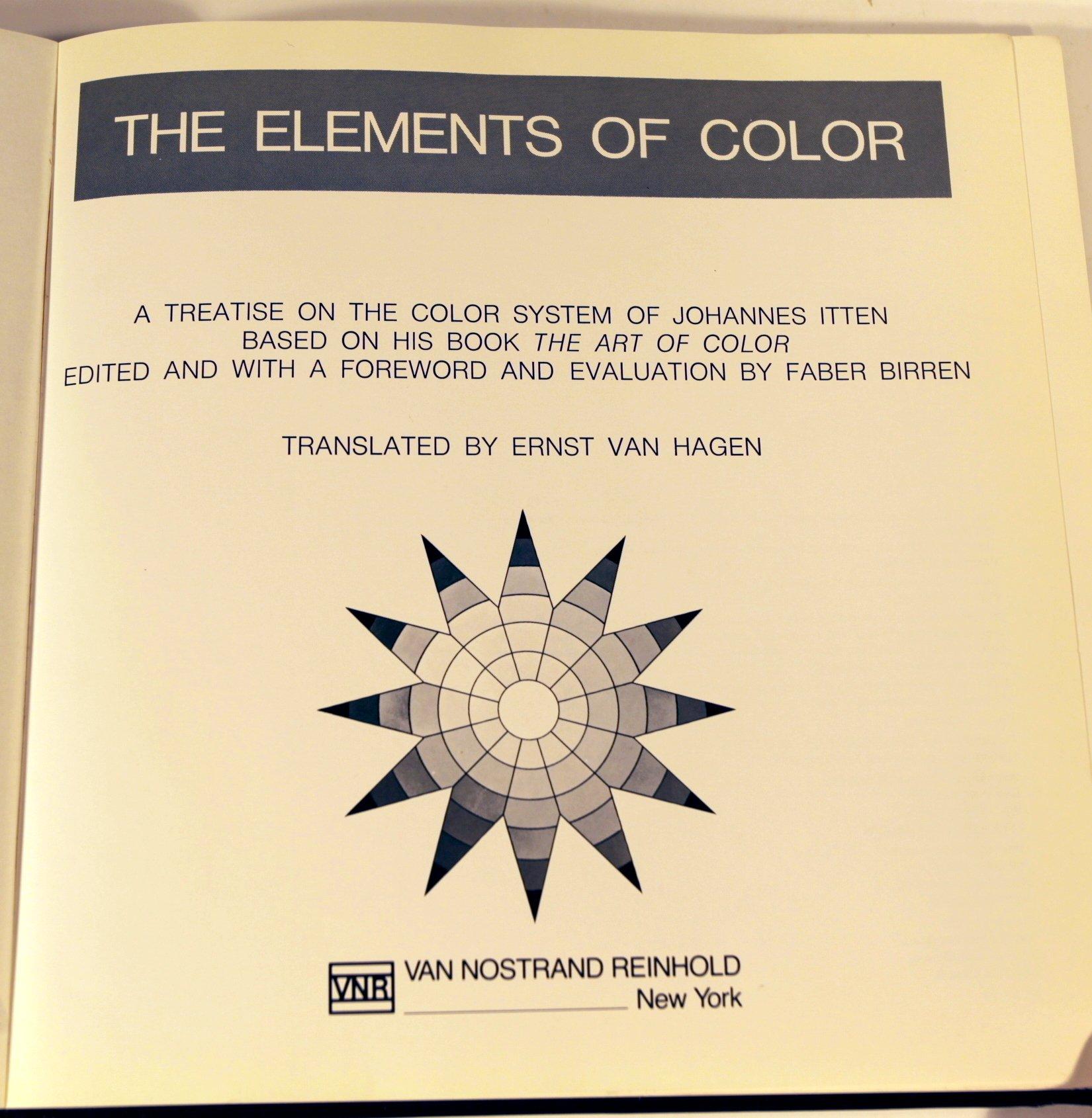 The art of color book - The Elements Of Color Amazon Co Uk Johannes Itten Faber Birren 9780442240387 Books