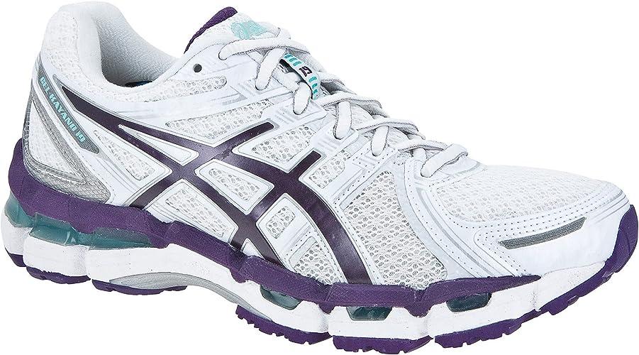 ASICS Gel-Kayano 19 Zapatilla de Running Señora, Blanco/Púrpura, 37.5: Amazon.es: Zapatos y complementos