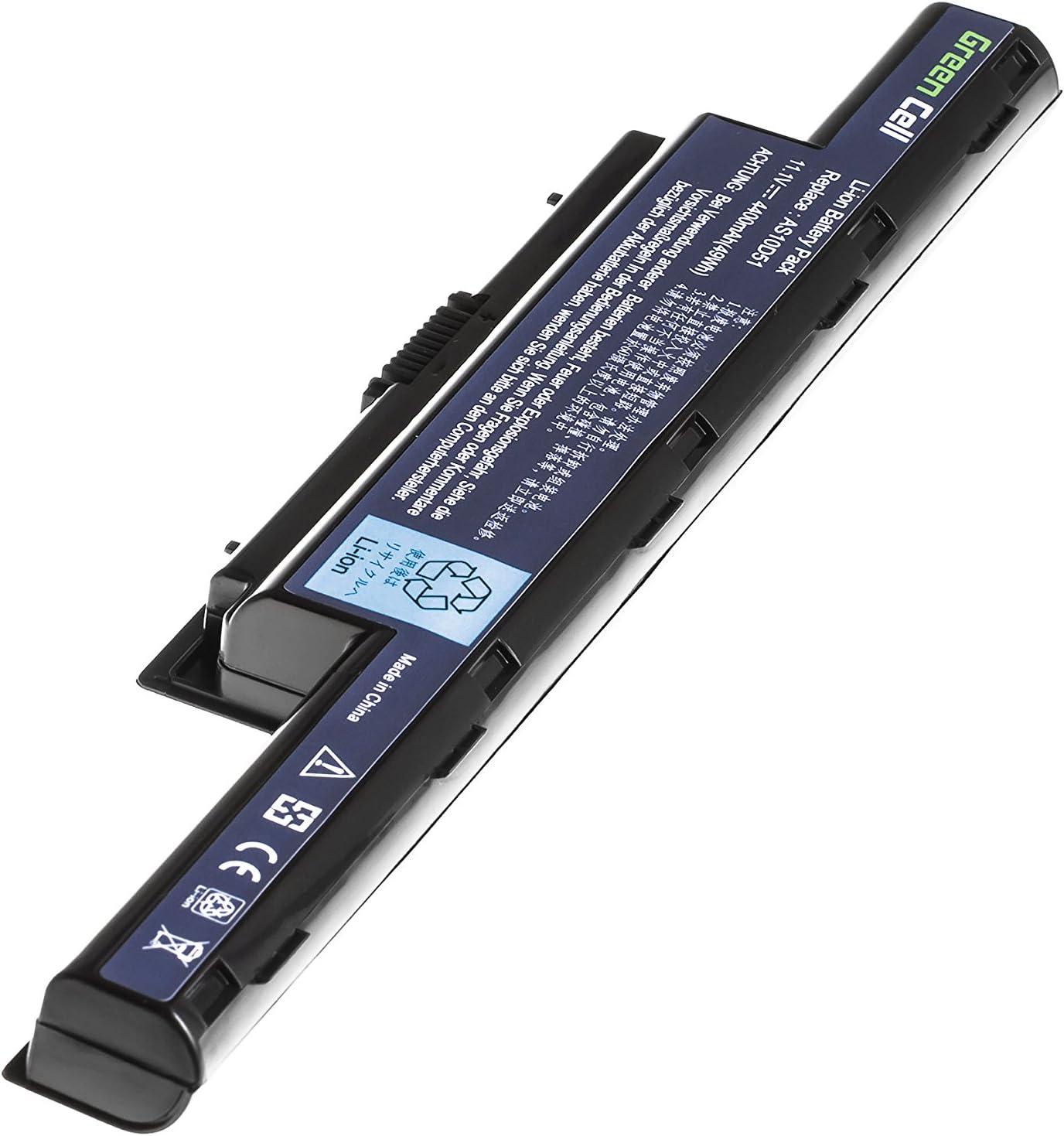 BATTERIA 6600mah per Acer Aspire e1-531-2697 e1-531-4444 e1-531g e1-571