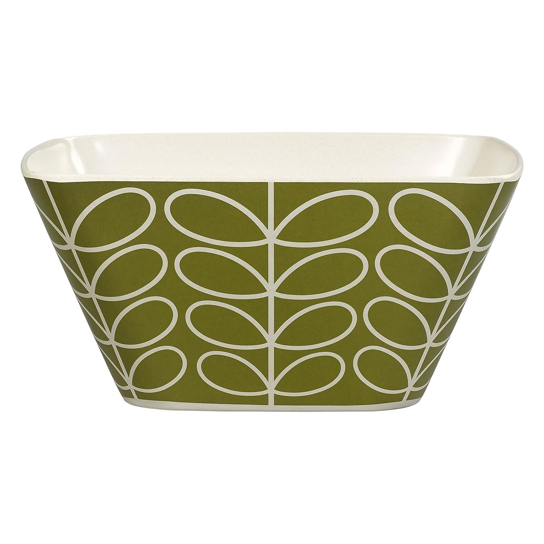 Orla Kiely Linear Stem Ideal for Picnics Seagrass Bamboo Salad Bowl