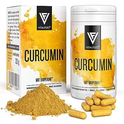 Vitalfuel® - Extracto de curcumina con piperina / Bioperina - Cápsulas de cúrcuma en dósis