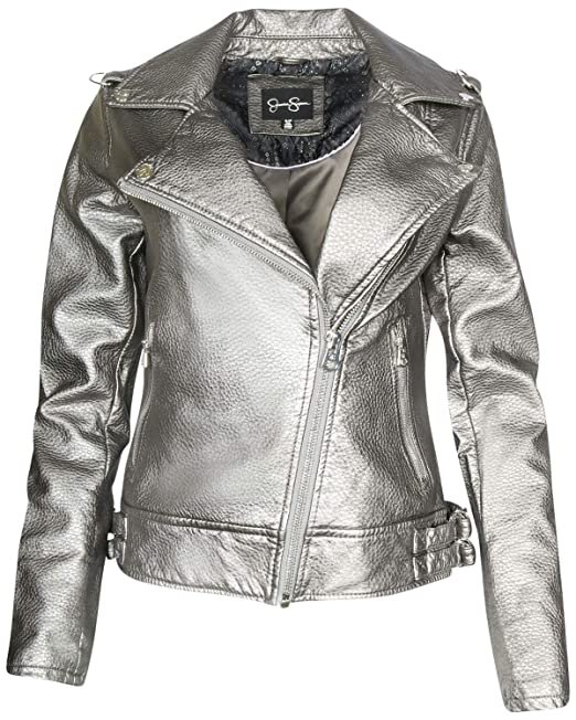 top-rated original top-rated real largest selection of Jessica Simpson Womens Faux Leather Moto Biker Jacket