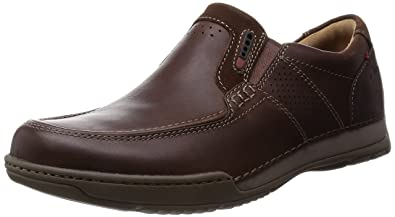 6e82c1913c Mens Clarks Active Air Vent Slip On Shoes Fenway Step Brown Leather Size  9.5G