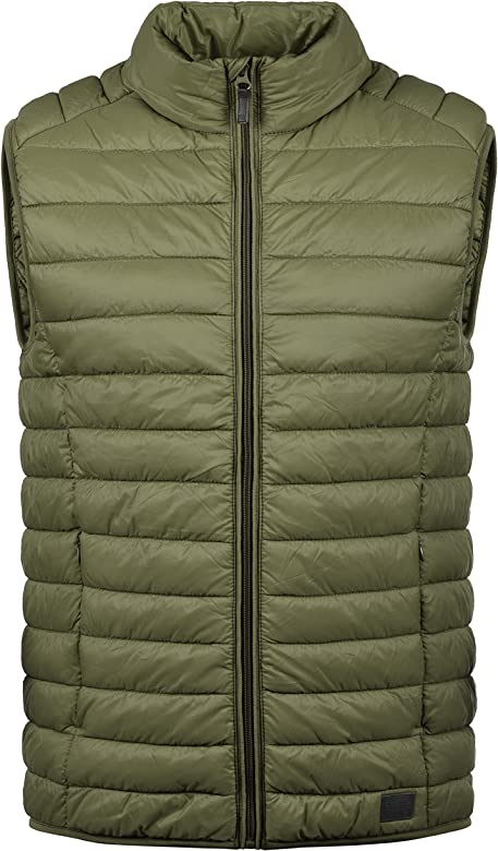 a57f9eb73 Nille Men's Quilted Gilet Vest Body Warmer With High Neck