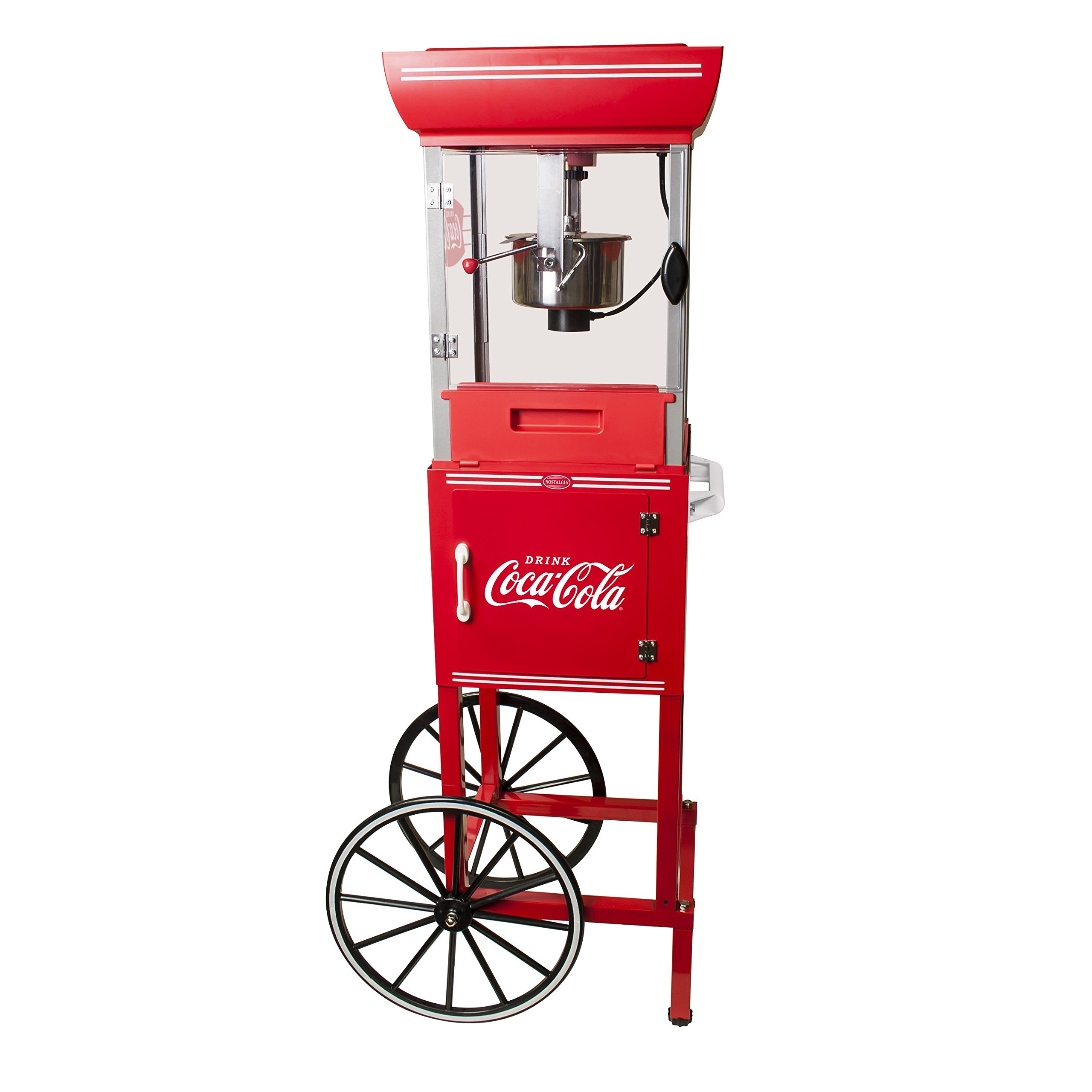 2.5 oz. Coca-Cola Series Old Fashioned Movie Time Popcorn Cart, Theater Style Machine Popper