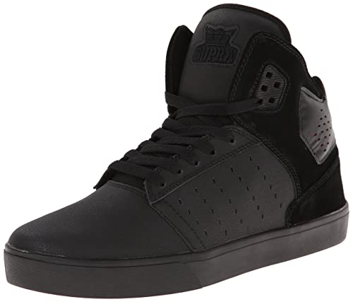 Supra Zapatillas, Black (Black/Black - Red RCS), EU 41 (UK 7)