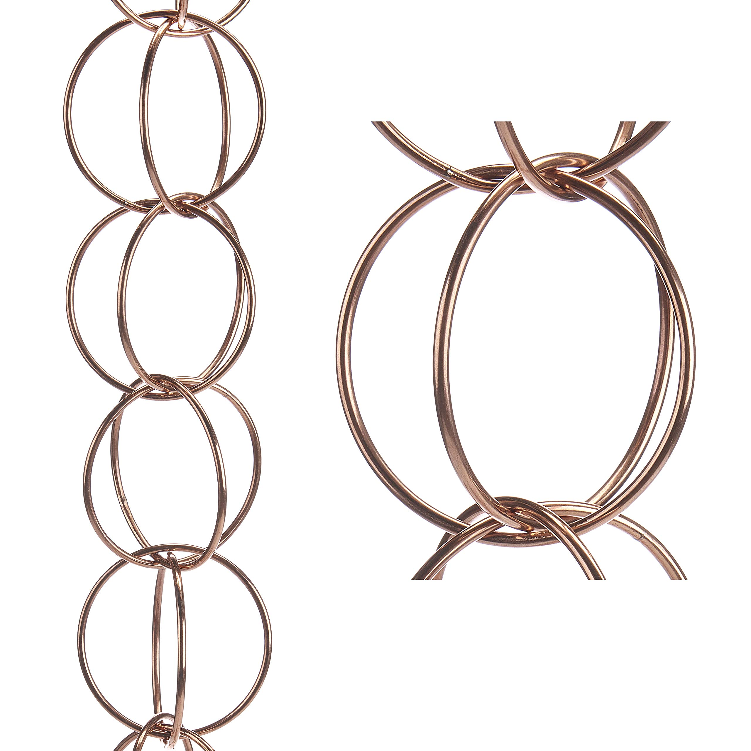 Good Directions Double Link Pure Copper 8.5-Foot Rain Chain