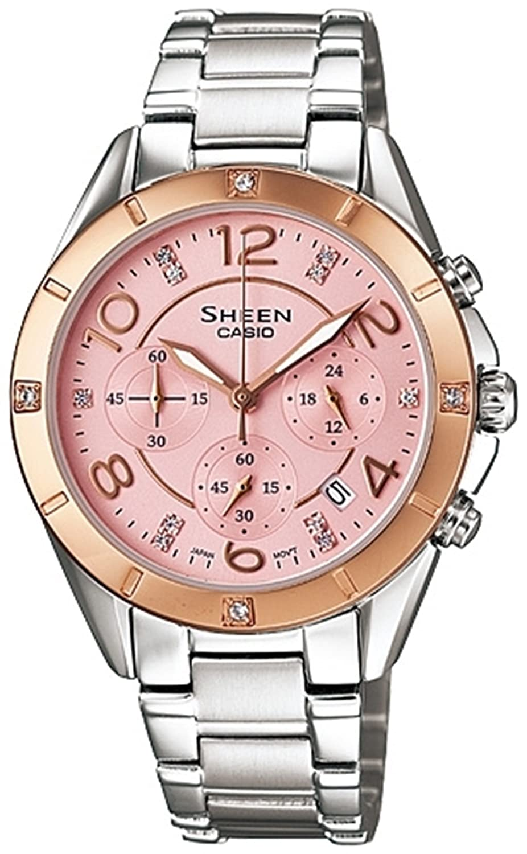 ピンク レディース アナログ カジュアル クォーツ Casio 時計 SHEEN Chronograph 海外出荷 SHE-5021SG-4A B0075BBQW8