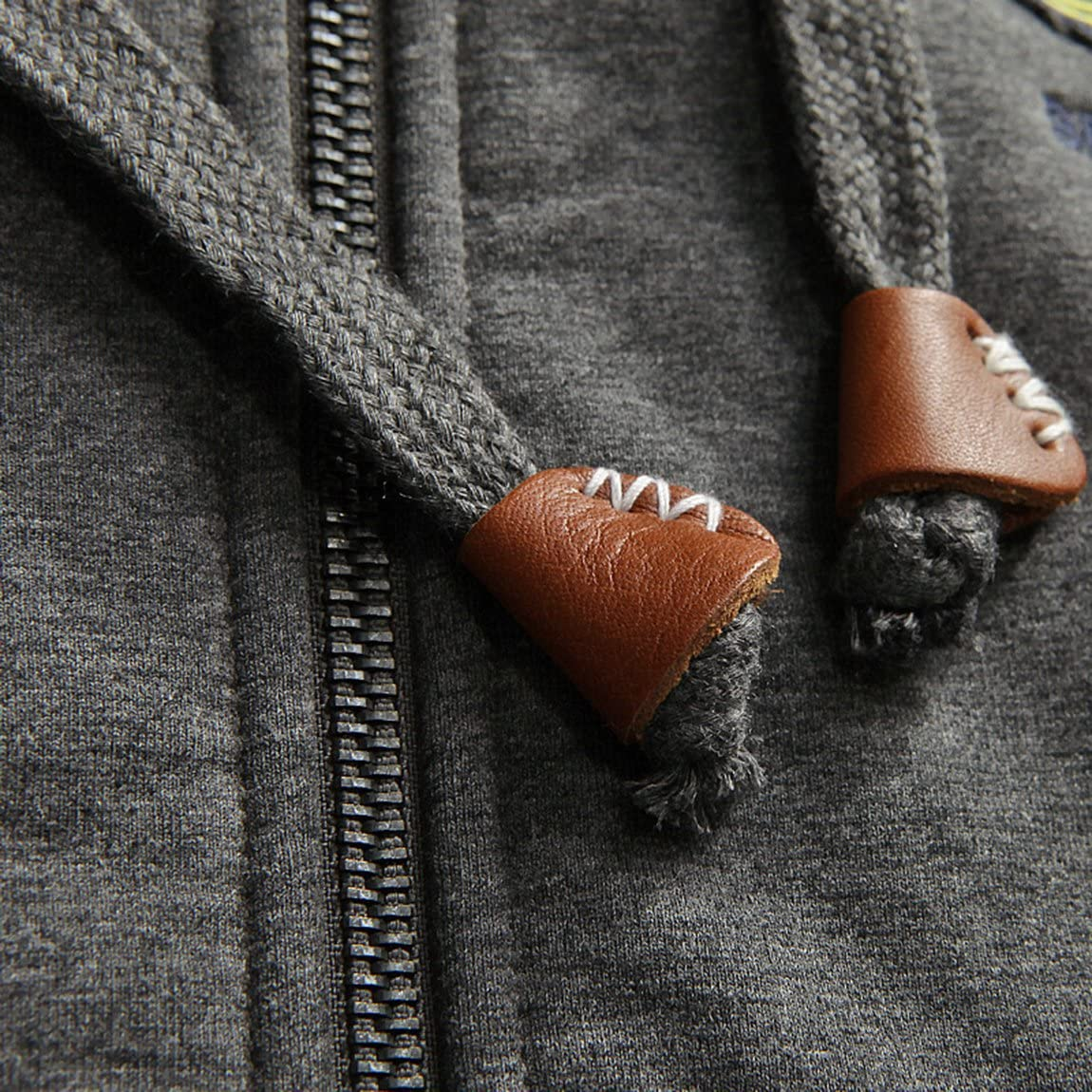 Wintie Mens Classic Fit Sherpa Fur Lined Zip-up Fleece Hoodie Jacket