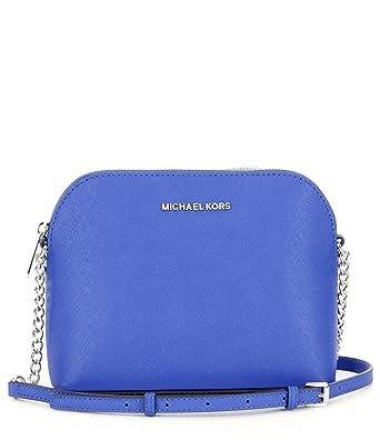 3de0ec7d7332c2 MICHAEL KORS Cindy Large Saffiano Leather Crossbody - Electric Blue:  Amazon.co.uk: Clothing