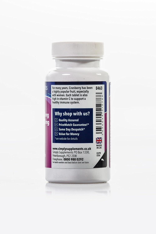 Arándanos Rojos 12000 mg - 120 comprimidos- Hasta 6 meses de suministro - infección de orina y sistema inmune - SimplySupplements: Amazon.es: Salud y ...