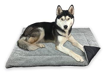 FLUFFINO Manta de Perro - Mullida, Suave y Suave Lavable (talla L, gris): Amazon.es: Productos para mascotas