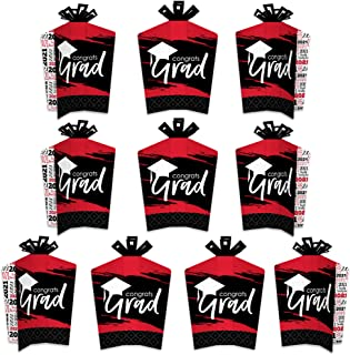 product image for Big Dot of Happiness Red Grad - Best is Yet to Come - Table Decorations - 2021 Red Graduation Party Fold and Flare Centerpieces - 10 Count