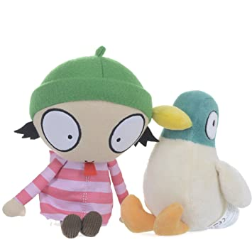 Sarah and Duck - Pato de peluche Duck (Posh Paws International 89120) (Surtido