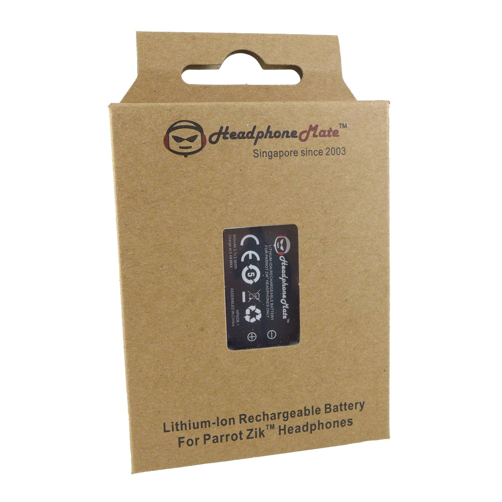 HeadphoneMate Rechargeable Battery for Parrot Zik 1 Zik 1.0 (Zik first version ) Headphones
