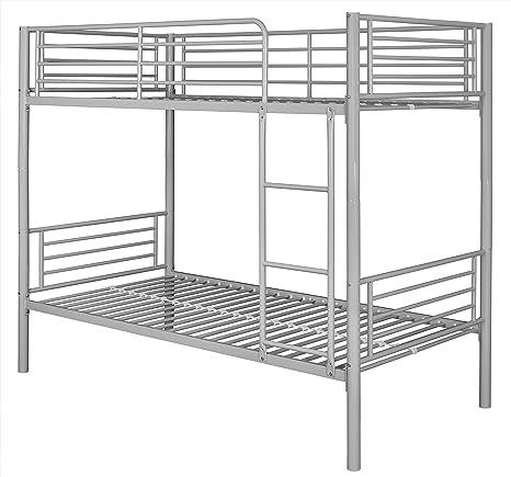 single Montreal Blue Metal Bunk Bed