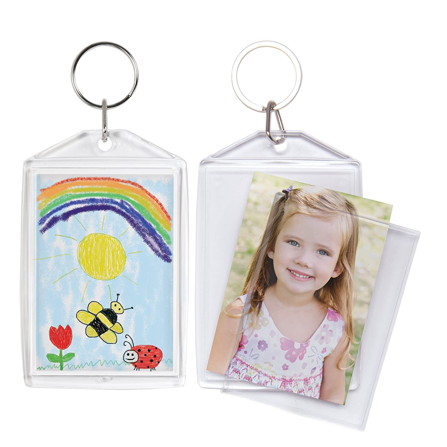 Amazon 2 x 3 acrylic snap in photo keychain 100 pack jeuxipadfo Choice Image