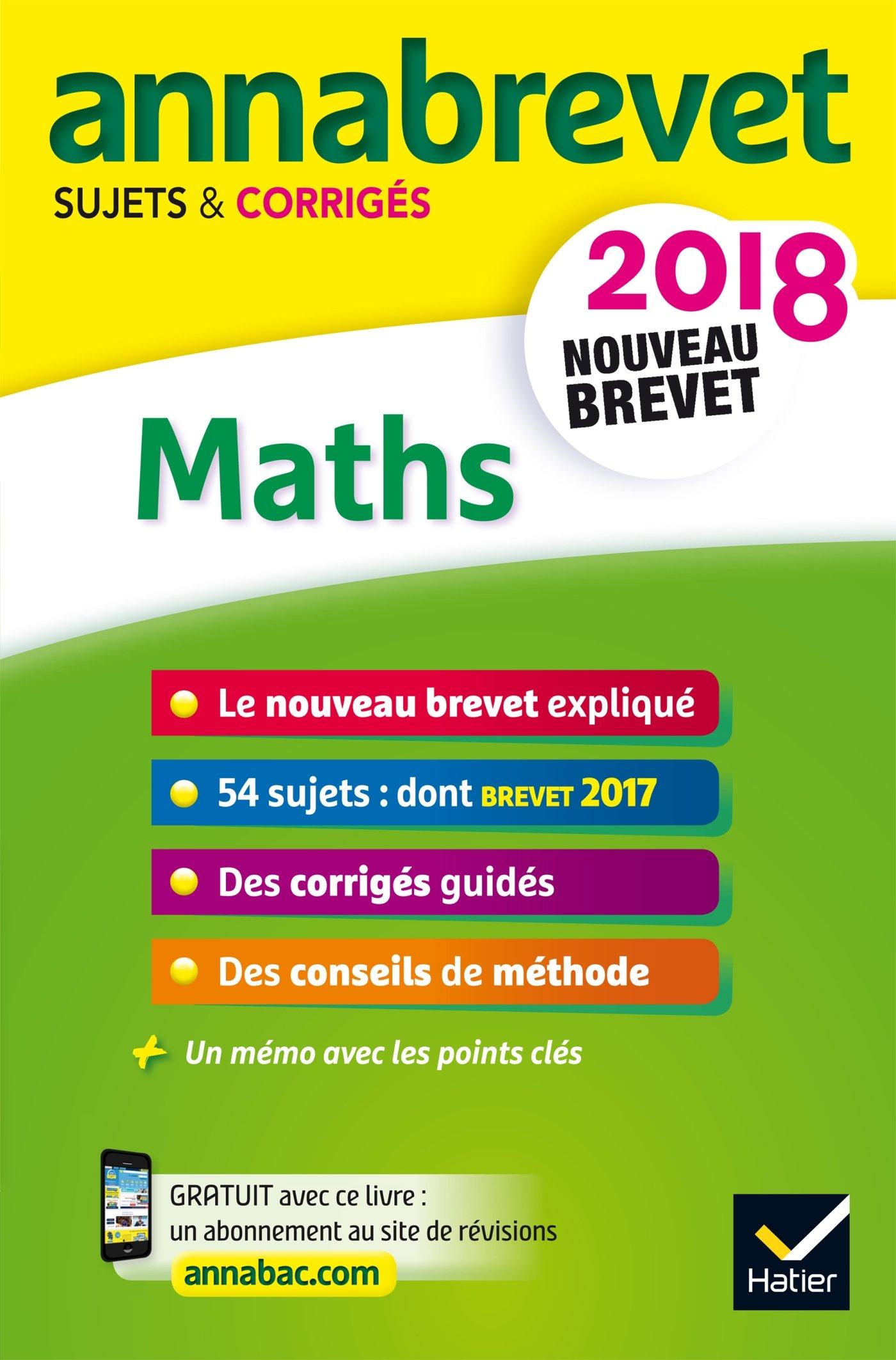Annales Annabrevet 2018 Maths 3e: sujets et corrigés, nouveau brevet: Amazon.es: Emmanuelle Michaud, Caroline Bureau, Jean-Pierre Bureau, ...