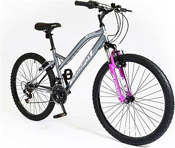 Muddyfox Serenity Bicicleta para mujer, color gris y rosa, 66 cm ...
