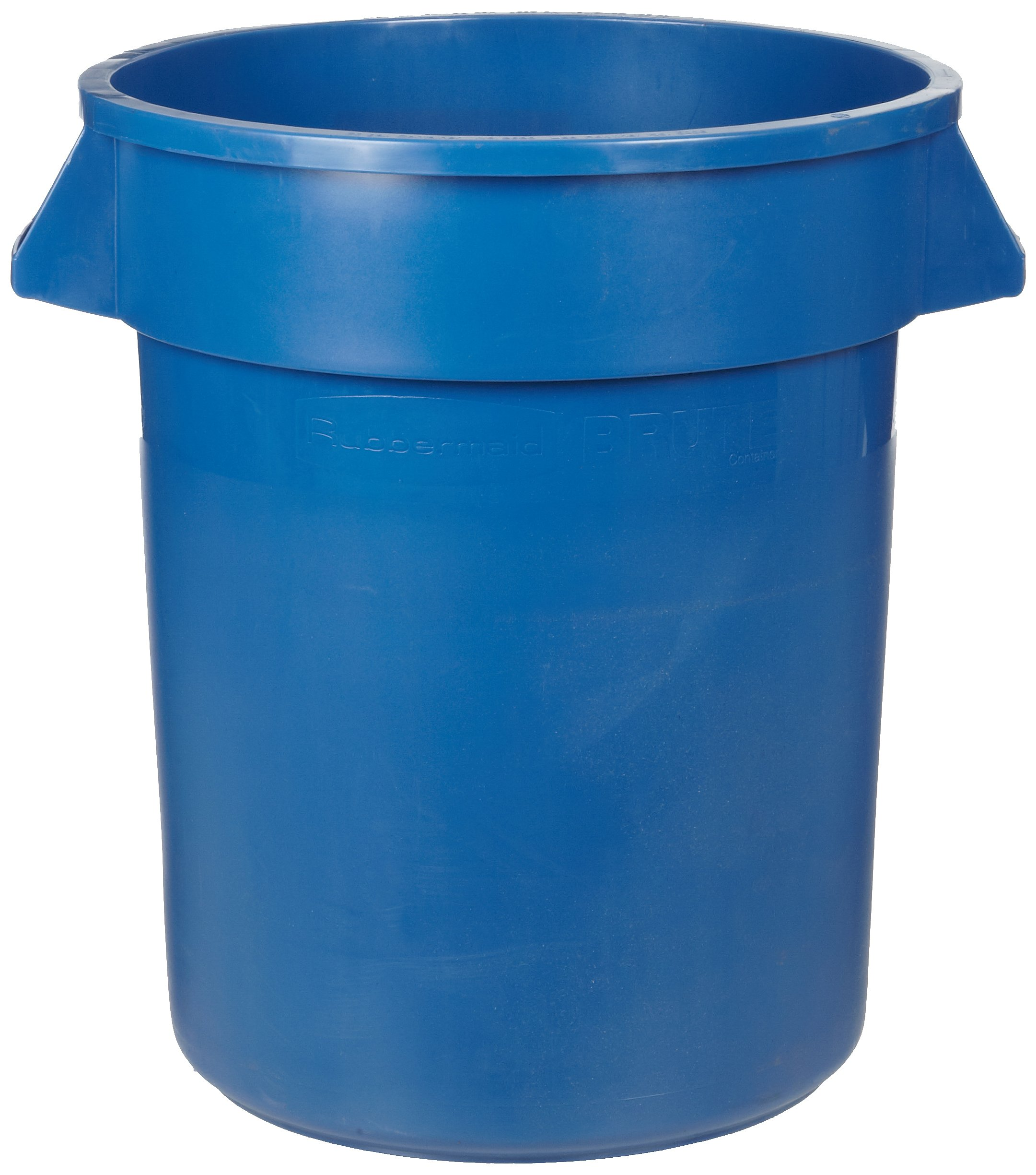 Rubbermaid Commercial 1788472 BRUTE Heavy-Duty Round Waste/Utility Container, with ''BRUTE'' Legend, 32-gallon, Green