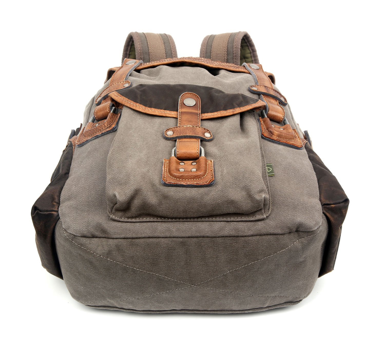 The Same Direction Tapa Two Tone Canvas Backpack Leather and Canvas Bag (Grey) by The Same Direction (Image #5)