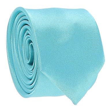 21750366b682 Turquoise Blue Skinny Tie: Amazon.co.uk: Clothing