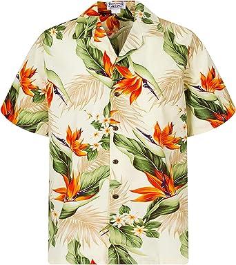 Pacific Legend | Original Camisa Hawaiana | Caballeros | S - 4XL | Manga Corta | Bolsillo Delantero | Estampado Hawaiano | Flores | Beige: Amazon.es: Ropa y accesorios