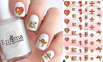 Amazon.com: Garfield Valentine\'s Day Accessories (Clear Water-Slide ...