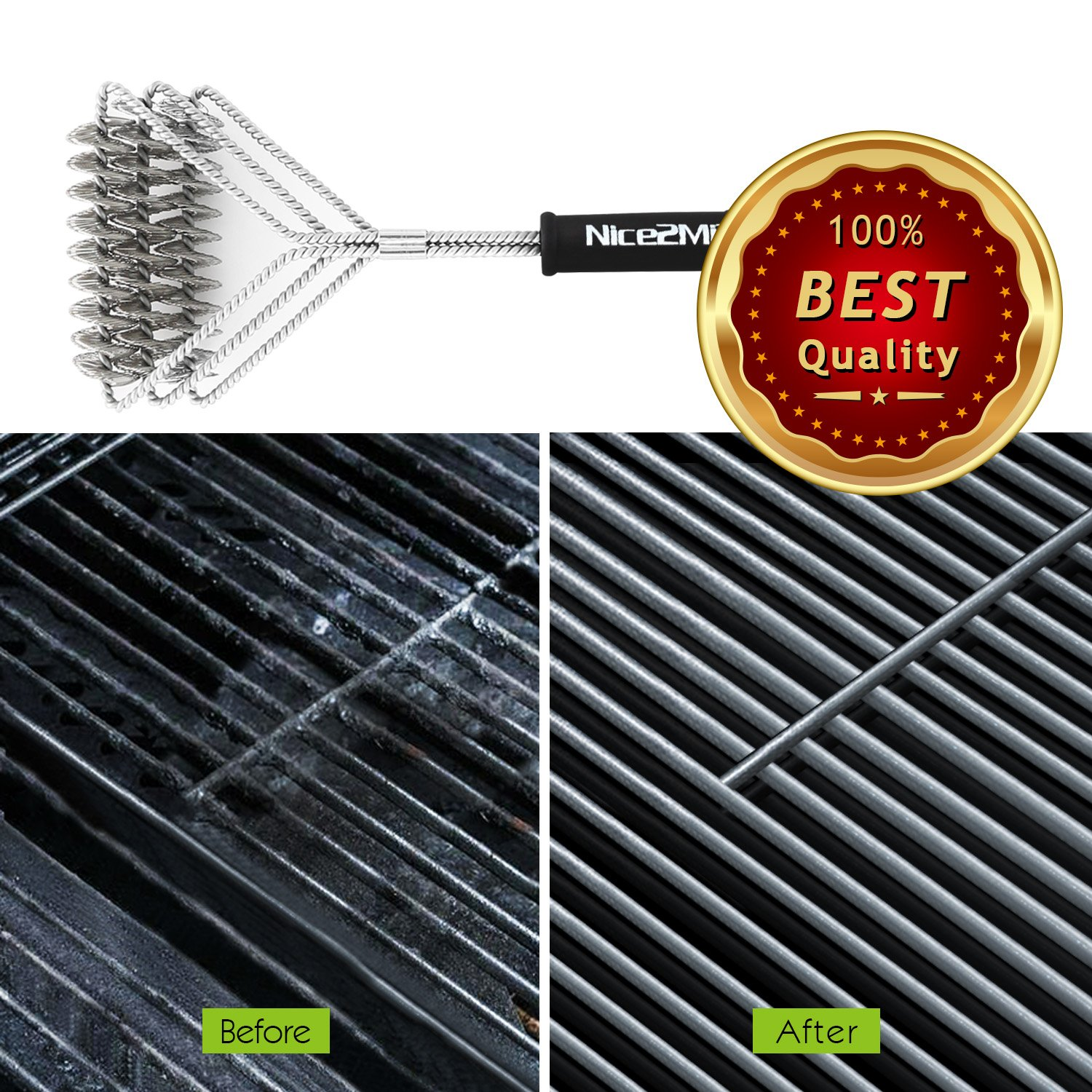 Grill Brush,BBQ Cleaning Scraper, Nice2MiTu 18\