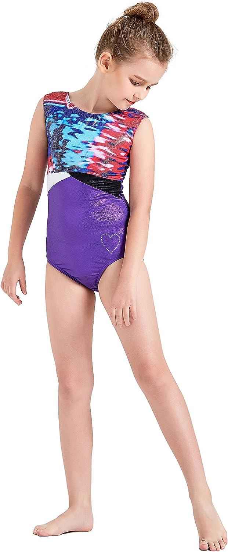Kql Starry Girls Sparkly Gymnastics Ballet Dancewear Leotards 5-14Years Training Costumes