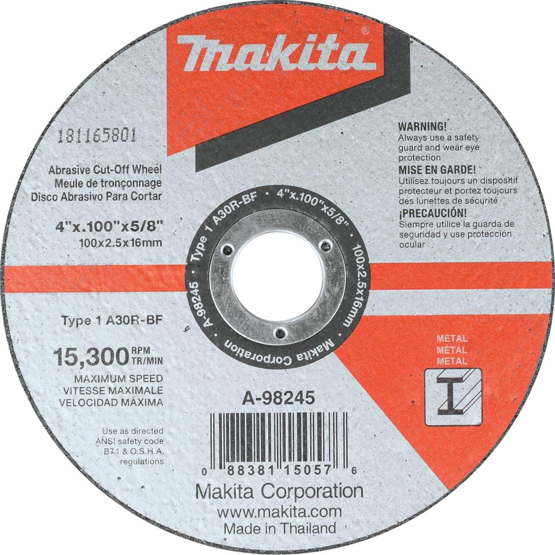 5//Pk Makita B-57598-5 14 x 1 x 3//32 Abrasive Cut-Off Wheel
