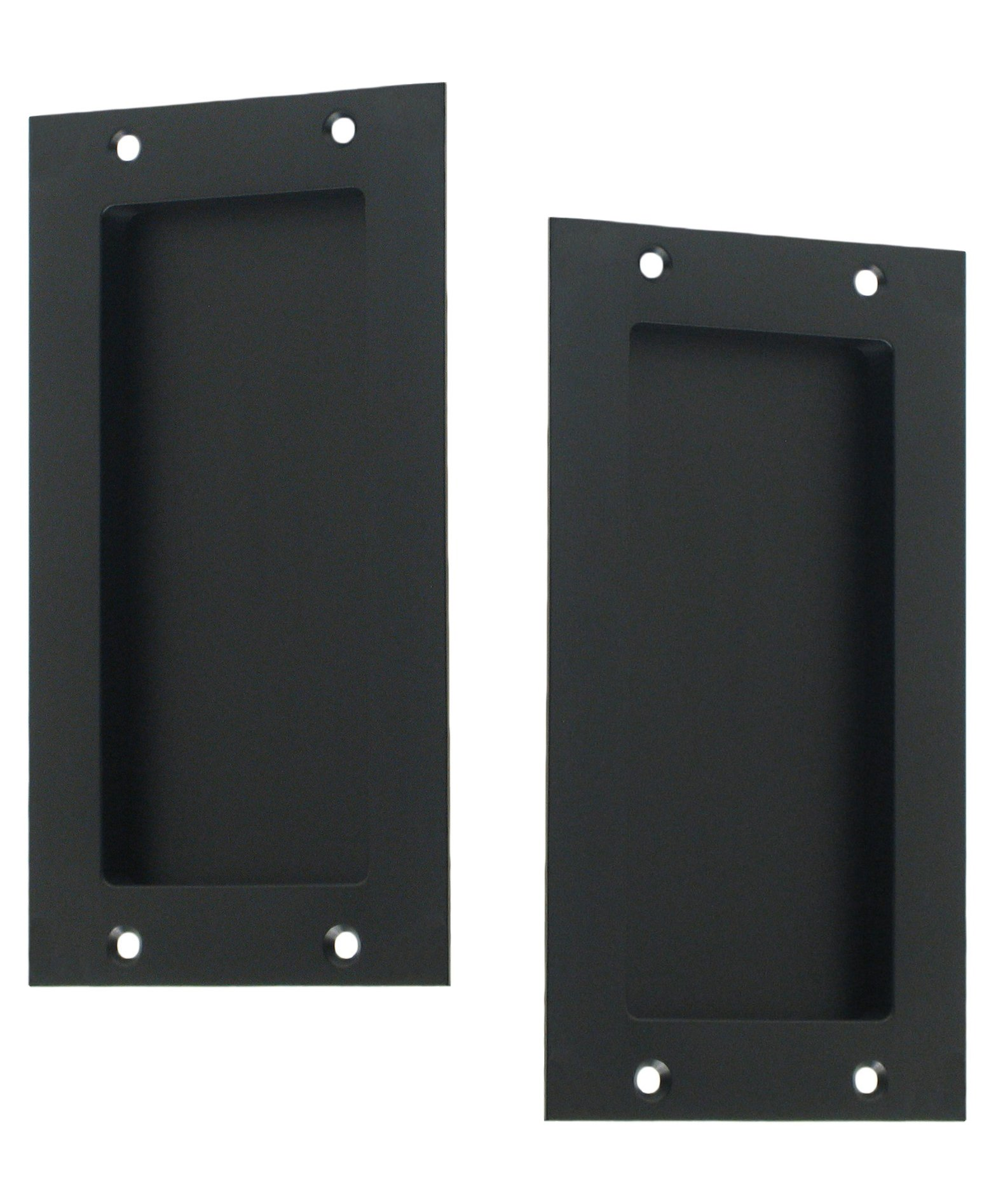 Anacapa by FPL - Solid Brass Modern Pocket Door Hardware in Passage - Hall/Closet Function - Oil Rubbed Bronze