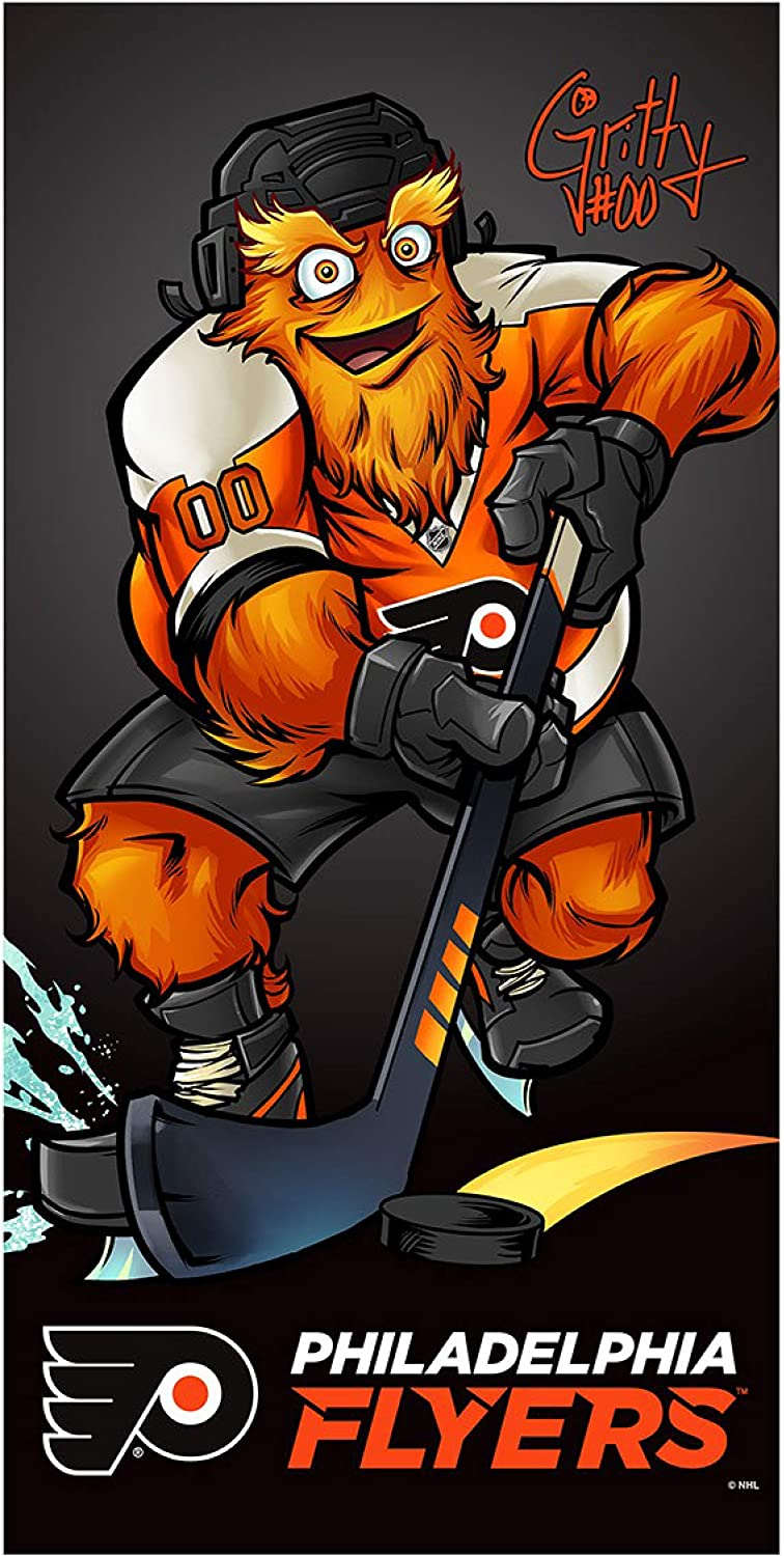 Philadelphia Flyers Gritty The Mascot 30 x 60 Inch Towel with Premium Spectra Graphics