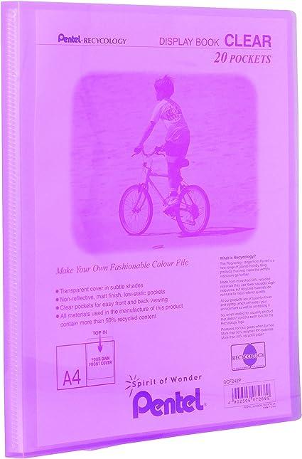 formato A4 con 20 tasche colore: nero Pentel Recycology-Portalistino per presentazione