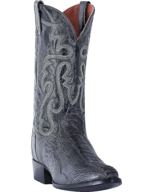 d9dbb2d49f4 Dan Post Men's Antique Grey Ostrich Leg Cowboy Boot Round Toe ...