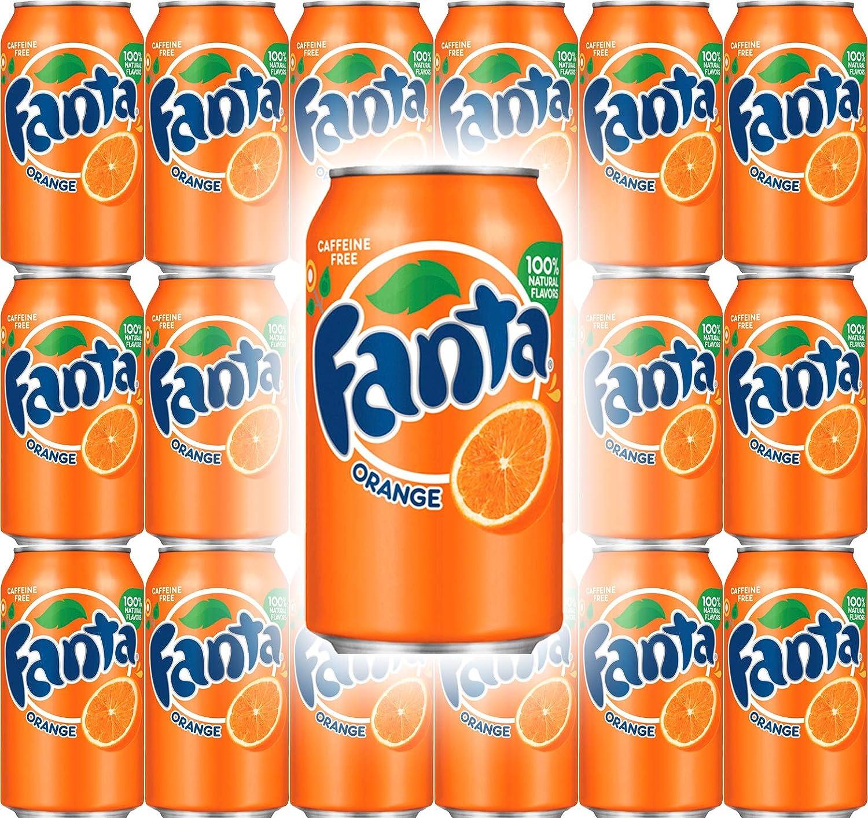 Fanta Orange Soda, 12 Fl Oz Cans (Pack of 18, Total of 216 Fl Oz)