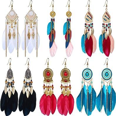Tassel earrings Peacock feather earrings Bohemian jewelry Long feather earrings Beadwork emerald earrings Gift for her Christmas earrings