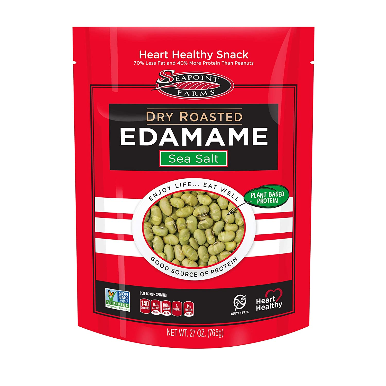 Seapoint Farms Sea Salt Dry Roasted Edamame, Healthy Vegan Snack, 27 oz. Bag