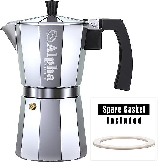 Alpha hornillo, cafetera 6 tazas – Cafetera de espresso Moka Pot ...
