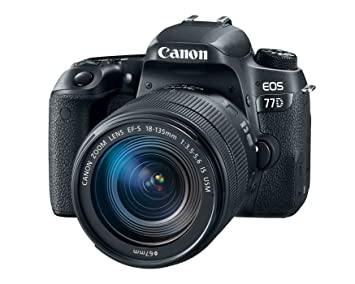 Buy Canon EOS 77D DSLR Camera With 18-135mm USM Lens Online at Low ...
