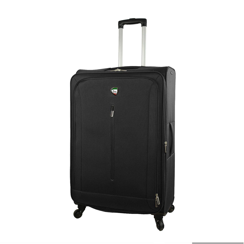Mia Toro, M1148-28IN-BLKNL スーツケース, ブラック, One Size B07MBR6KMS