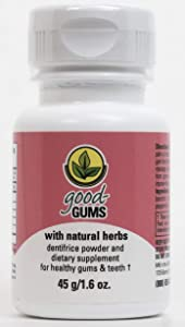 Good Gums Natural Dentifrice Powder & Dietary Supplement for Brushing Teeth