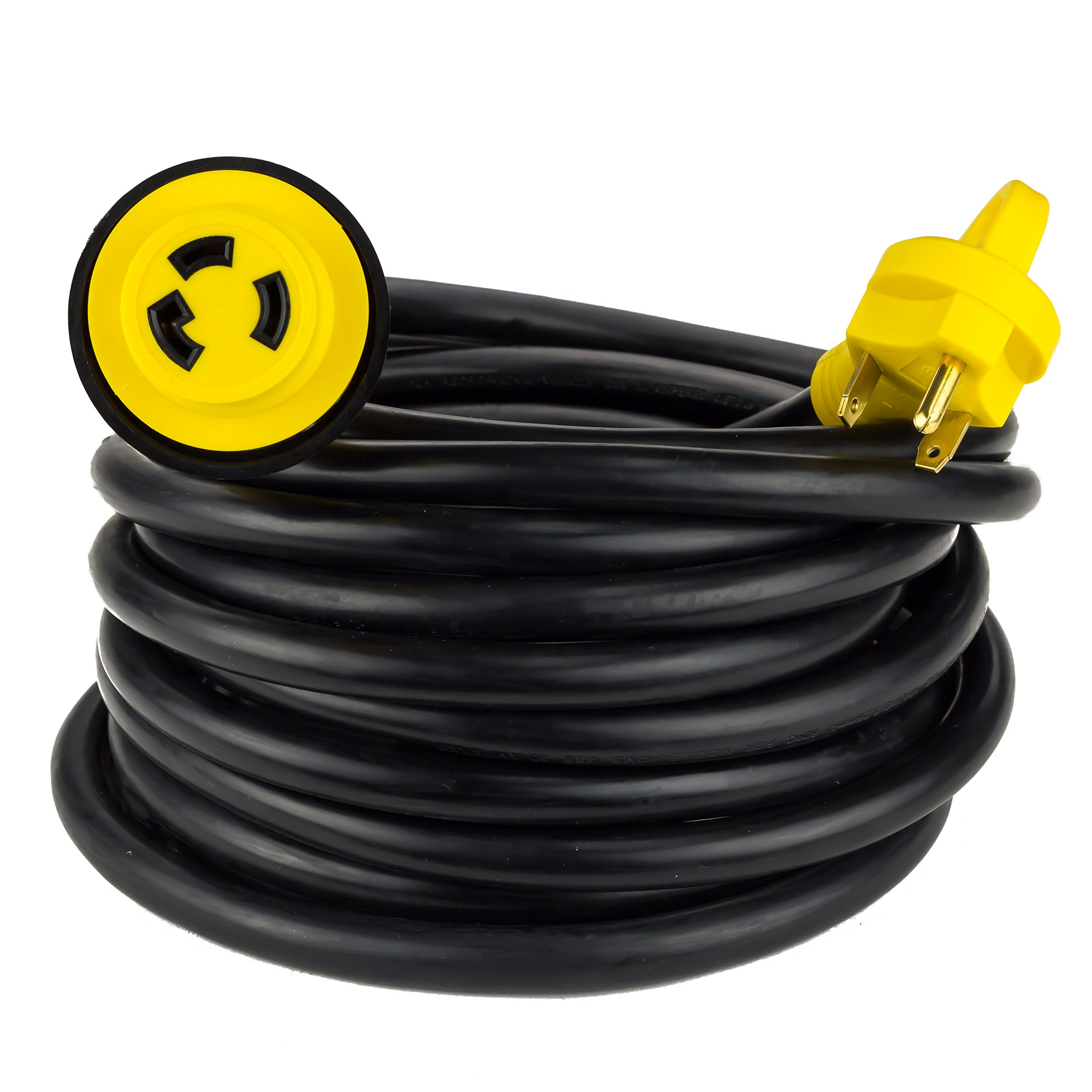 Proline Heavy Duty 25-FT 30AMP RV Power Extension Cord With Twist Lock Connector 10/3 STW