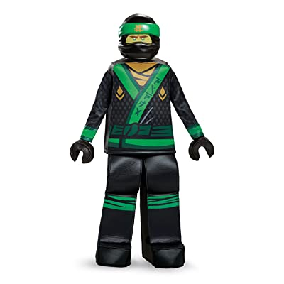 Disguise Lloyd Lego Ninjago Movie Prestige Costume, Green, Small (4-6): Toys & Games