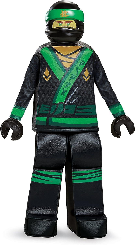 Disguise Lloyd Lego Ninjago Movie Prestige Costume, Green, Medium (7-8)